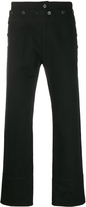 Ann Demeulemeester Multi-Button Detail Cropped Trousers