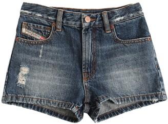 Diesel Cotton Denim Shorts