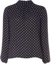 Dorothy Perkins Navy Spotted Long Sleeve Top