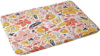 Deny Designs Retro Floral Memory Foam Bath Mat