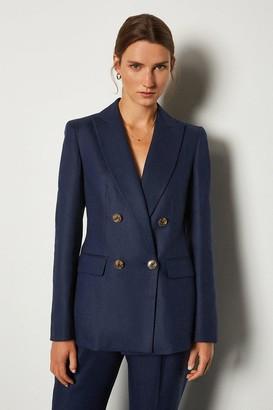 Karen Millen Italian Linen Double Breasted Jacket