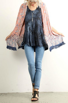 Hem & Thread Printed Fringe Kimono