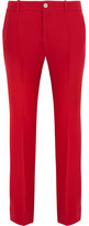 Gucci Wool And Silk-blend Crepe Flared Pants - IT38