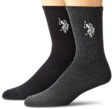 U.S. Polo Assn. Men's 2 Pack Marled Crew
