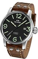 TW Steel Men's 'Maverick' Quartz Stainless and Leather Casual Watch, Color:Brown (Model: MS16)