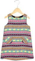 Milly Minis Girls' Patterned Crew Neck Dress