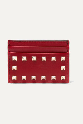 Valentino The Rockstud Leather Cardholder