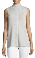 Lafayette 148 New York Vanise Sleeveless Mock-Neck Cashmere Sweater