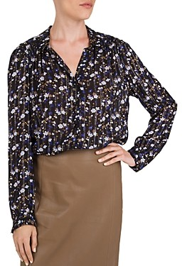 Gerard Darel Marlon Floral & Metallic Threaded Shirt