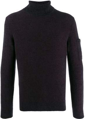C.P. Company pocket-detail turtleneck jumper