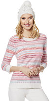 New York & Co. Waverly Crewneck Sweater - Fair Isle
