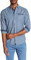 Report Collection Chambray Striped Slim Fit Shirt