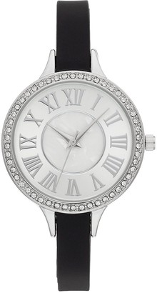 Women's Slim Band Crystal Accent Watch