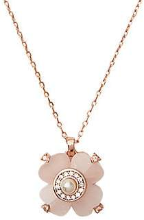 Kate Spade Women's Rose Goldplated & Glass Pearl Spade Flower Pendant Necklace