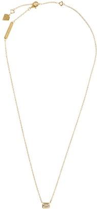 Wanderlust + Co Topaz Baguette Gold Sterling Silver Necklace