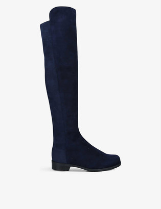 Stuart Weitzman 5050 Suede Over-The-Knee Boots