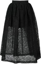 Vera Wang full floral lace skirt - women - Silk/Nylon - 0
