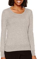 WORTHINGTON Worthington Long Sleeve Crewneck Sweater