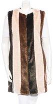 Edun Faux Fur & Leather Vest w/ Tags