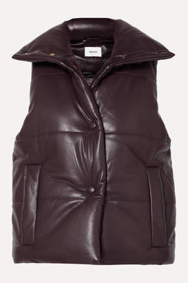 Nanushka Morillo Quilted Vegan Leather Vest - Merlot