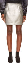 BLK DNM Silver Leather Mini Skirt