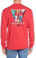 Vineyard Vines Men's Coastal Burgees Long Sleeve Pocket T-Shirt