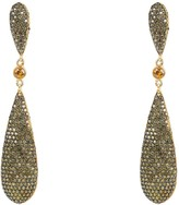 Latelita Coco Long Drop Earrings Peridot Cz