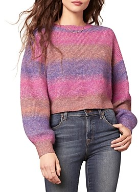 Cupcakes And Cashmere Clem Cropped Balloon Sleeve Sweater
