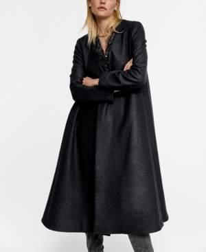 MANGO Leandra Medine Recycled Wool Oversize Coat