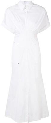 Talbot Runhof long shirt dress