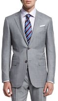 Ermenegildo Zegna Sharkskin Two-Piece Trofeo® Wool Suit, Light Gray