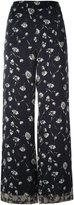 Etro daisy print palazzo pants - women - Viscose - 38