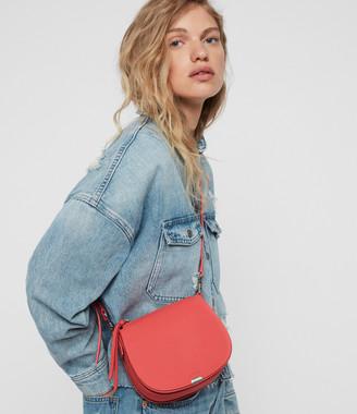AllSaints Captain Lea Leather Small Round Crossbody Bag
