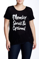 Hip Monday Should Be Optional Tee (Plus Size)