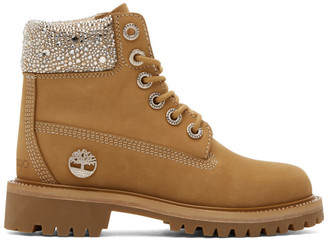 Jimmy Choo Beige Timberland Edition Lace-Up Boots
