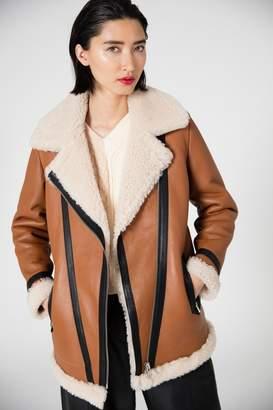 Veda Mesquite Shearling Coat Tan
