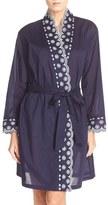 Eileen West Women's Embroidered Cotton Robe
