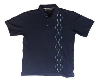 Saint Laurent Blue Cotton Polo shirts