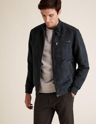 Marks and Spencer Faux Suede Padded Biker Jacket