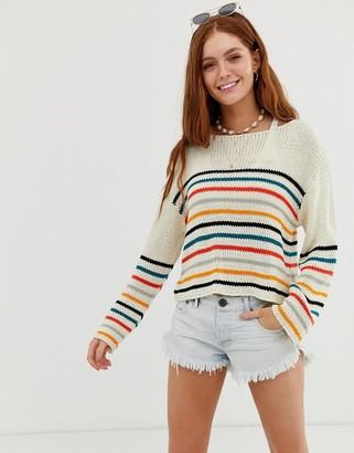 Rip Curl Golden Haze knit beach jumper in stripe