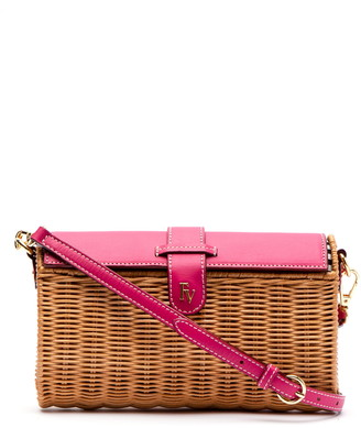 Frances Valentine Betsy Wicker Basket Crossbody Bag
