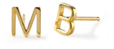 Maya Brenner Mini Letter Earrings
