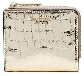 Kate Spade Sylvia Croc-Embossed Leather Bi-Fold Wallet