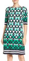 Eliza J Border Print Shift Dress