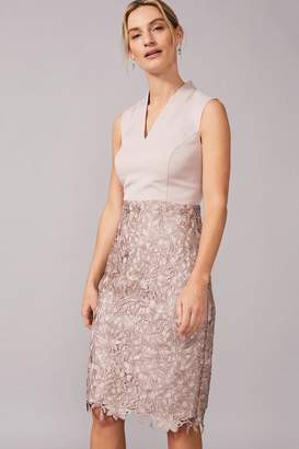 Phase Eight Womens Neutral Aletta Lace Skirt Dress - Natural