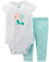 Carter's 2 Piece Bodysuit Set (Baby)-Turquoise-9 Months