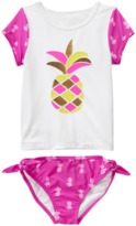 Crazy 8 Pineapple Rash Guard Set