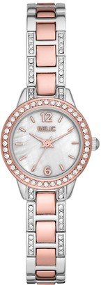 Relic by Fossil Women's Tenley Crystal Accent Two Tone Watch - ZR34588