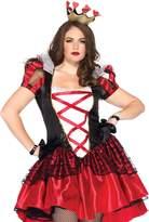 Leg Avenue Women's Plus-Size 2 Piece Royal Red Queen Costume, Black/Red
