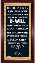 Steiner Sports Brooklyn Nets 32'' x 16'' Vintage Subway Sign with Game-Used Net